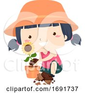 Poster, Art Print Of Kid Girl Adjective Good Illustration