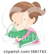 Kid Girl Adjective Soft Illustration