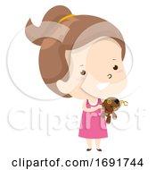 Kid Girl Adjective Ugly Illustration