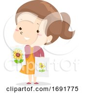 Kid Girl Adjective Better Illustration