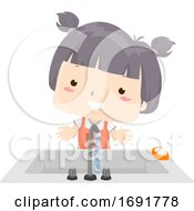 Poster, Art Print Of Kid Girl Adjective Clean Illustration
