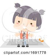 Kid Girl Adjective Clean Illustration