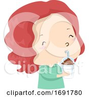 Kid Girl Adjective Cold Illustration