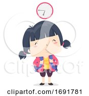 Kid Girl Adjective Early Illustration