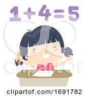 Kid Girl Adjective Easy Illustration