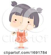 Kid Girl Adjective Few Illustration