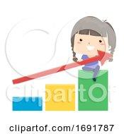 Kid Girl Chart Economics Illustration