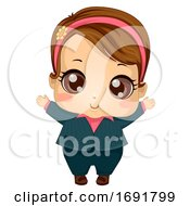 Kid Girl Baby Business Suit Illustration by BNP Design Studio