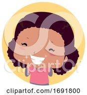 Kid Girl Teeth Sparkling Illustration