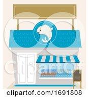 Poster, Art Print Of Fish Market Shop Illustration