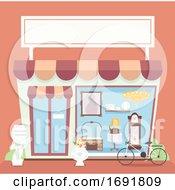 Poster, Art Print Of Antique Shop Illustration