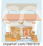 Poster, Art Print Of Basket Shop Illustration