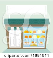 Poster, Art Print Of Cheese Shop Illustration