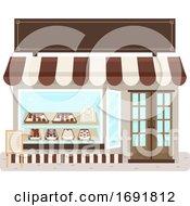 Poster, Art Print Of Chocolate Shop Illustration
