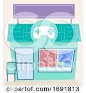 Poster, Art Print Of Game Shop Illustration