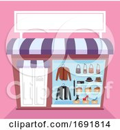 Poster, Art Print Of Leather Items Shop Illustration