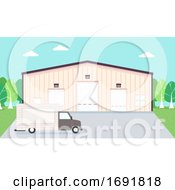 Warehouse Truck Illustration
