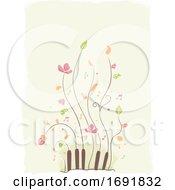 Piano Plant Design Illustration