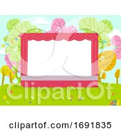Outdoor Nature Stage Background Illustration