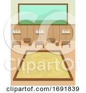 Onsen Bathhouse Indoors Illustration