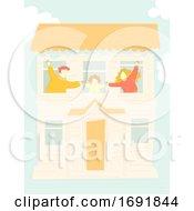 Poster, Art Print Of Family House Illustration