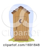 Outhouse Illustration