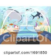 Underwater Hotel Bedroom Illustration
