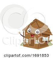 Mascot Cabin Speech Bubble Illustration