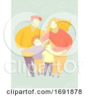 Poster, Art Print Of Family Harmony Illustration