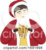 Man Dad Santa Suit Illustration