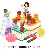 Stickman Kids Teacher Science Class Illustration