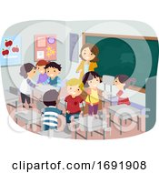 Kids Class Introduction Illustration