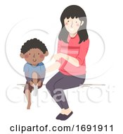 Kid Boy Coordination Disability Illustration