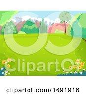 Spring Picnic Field Illustration