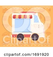 Food Truck Poster Design Illustration