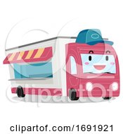 Mascot Food Truck Illustration