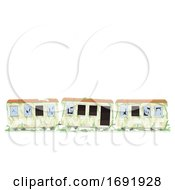 Abandoned Train Illustration