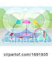 Splash Pad Water Park Illustration