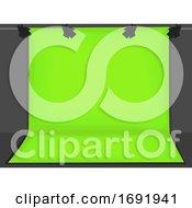 Green Screen Background Illustration