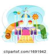 Poster, Art Print Of Pool Play Area Illustration