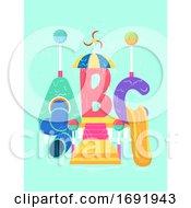 Poster, Art Print Of Abc Pool Play Area Illustration