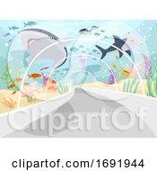 Underwater Tunnel Illustration