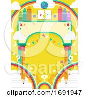 Festival Arch School 123 Background Illustration