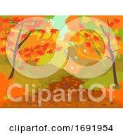 Autumn Forest Path Illustration