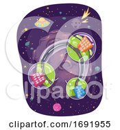 Space Buildings Outdoors Illustration