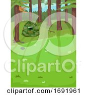 Birding Hide Outdoors Illustration