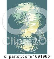 Poster, Art Print Of Question Mark Forest Illustration