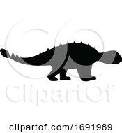 Silhouetted Dinosaur