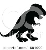 Poster, Art Print Of Silhouetted Dinosaur
