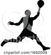 Poster, Art Print Of Silhouette Basketball Player